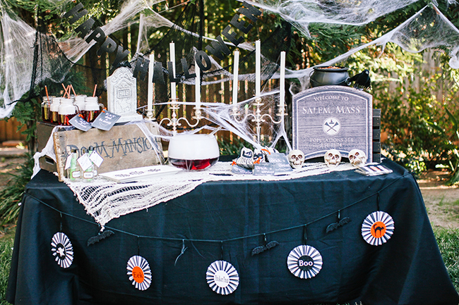 The creepiest Haunted Halloween party around! Throw a bash outside to really soak of the crisp Fall air and Halloween fun!