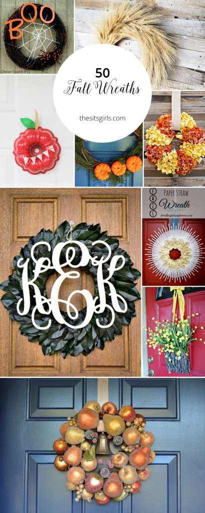 50 Beautiful Fall Wreath Ideas | Dress up your house for fall with these easy DIY tutorials. With 50 fall wreaths for front door decor, you are sure to find the perfect wreath for your house.