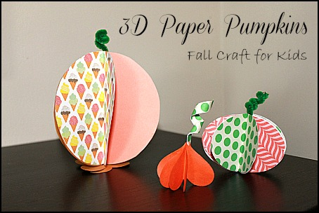 These paper pumpkins are so cute and fun!