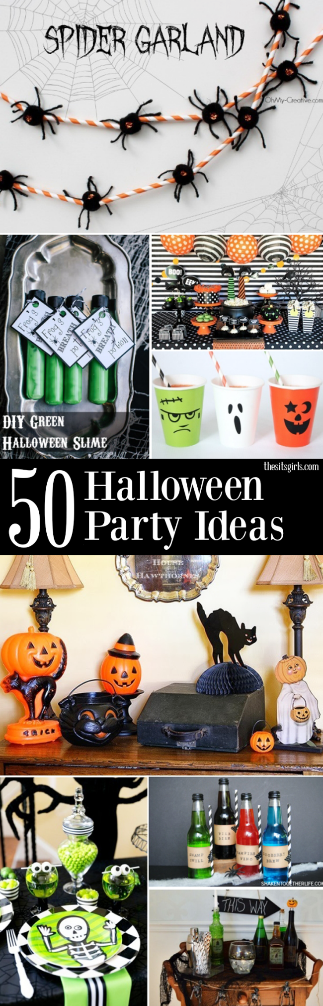 Great Halloween party ideas to help you throw the perfect party - with cute party food, Halloween decor, party favors and more!