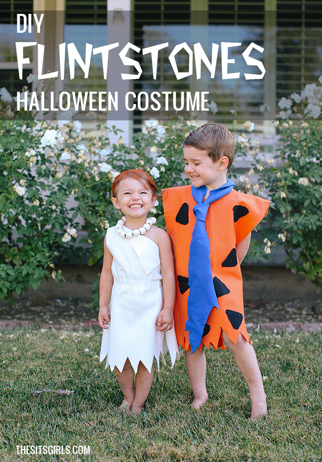 DIY Fred and Wilma Flintstone Costume |You can make both of these homemade Halloween costumes  sc 1 st  The SITS Girls & Fred And Wilma Flintstone Costume DIY | Halloween