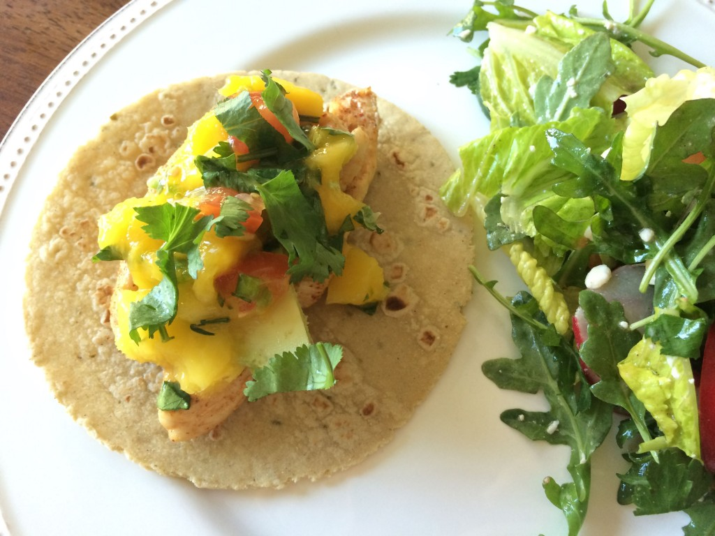 Mango salsa is the best addition to any Foster Farms chicken!