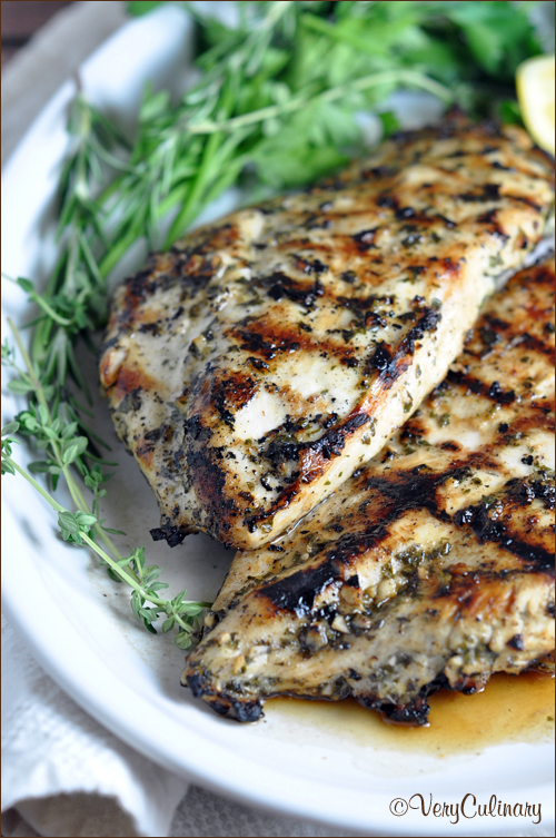 Grilled Chicken Breast With Herbs And Lemon