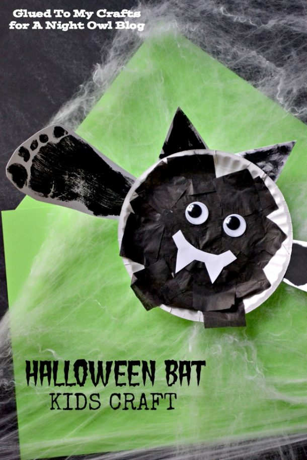 Use your kids footprint to make these cute bats!