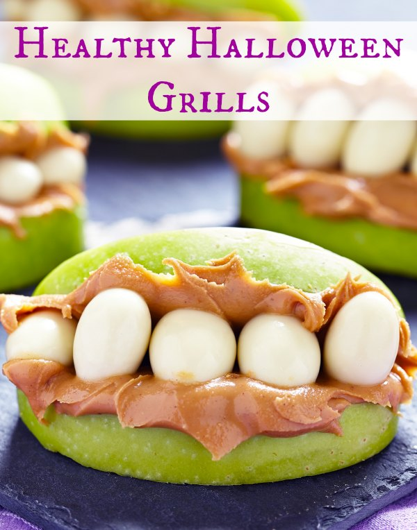 Apples and peanut butter are the best combo for this Halloween Snack!