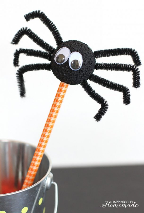 Kids-Craft-Halloween-Spider-Pencils-690x1024
