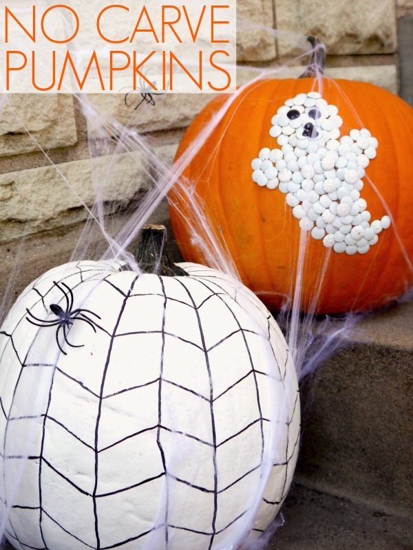 We love this spiderweb pumpkin!