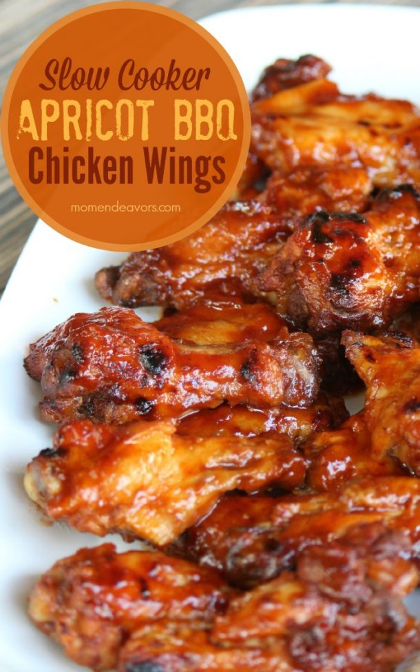 CHicken wings in a slow cooker are the perfect way to make an easy appetizer.