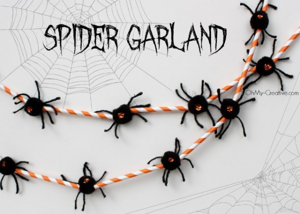 This spider garland will spook out anyone who enters! And it is super easy to make!