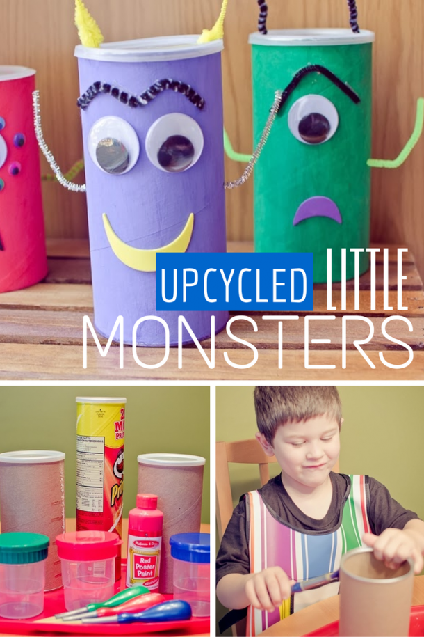 Use toilet paper rolls to make these cute little monsters!