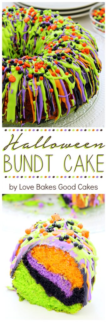 Use fun colors to create this bundt cake!