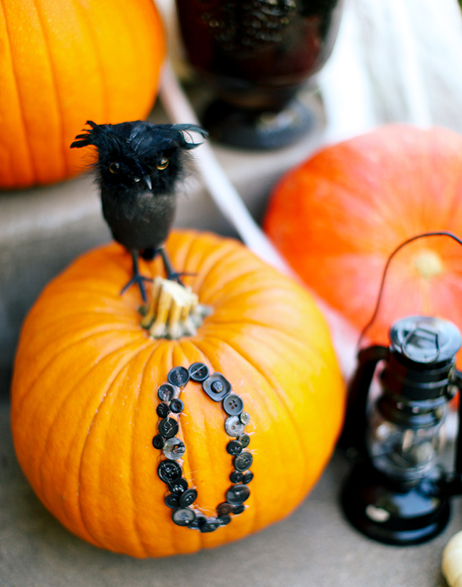 We are totally obsessed with these button pumpkins! Super cute!