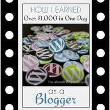 How I Made Over $1000 in One Day with a Blog