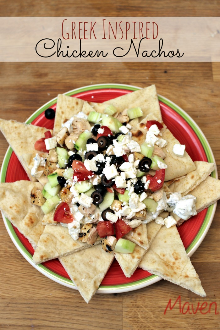 These Nachos have a Greek twist on them! What a cool way to refresh a classic recipe!