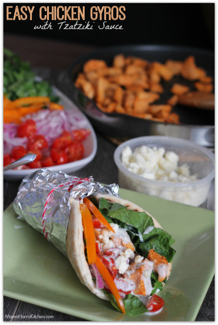 Chicken gyros are a fast and delicious lunch!