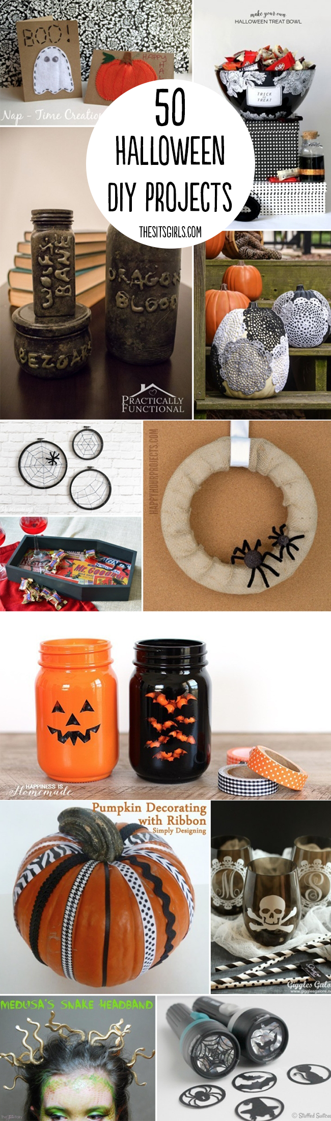 Halloween DIY | 50 great DIY projects you can do for Halloween, from decorations to costumes.