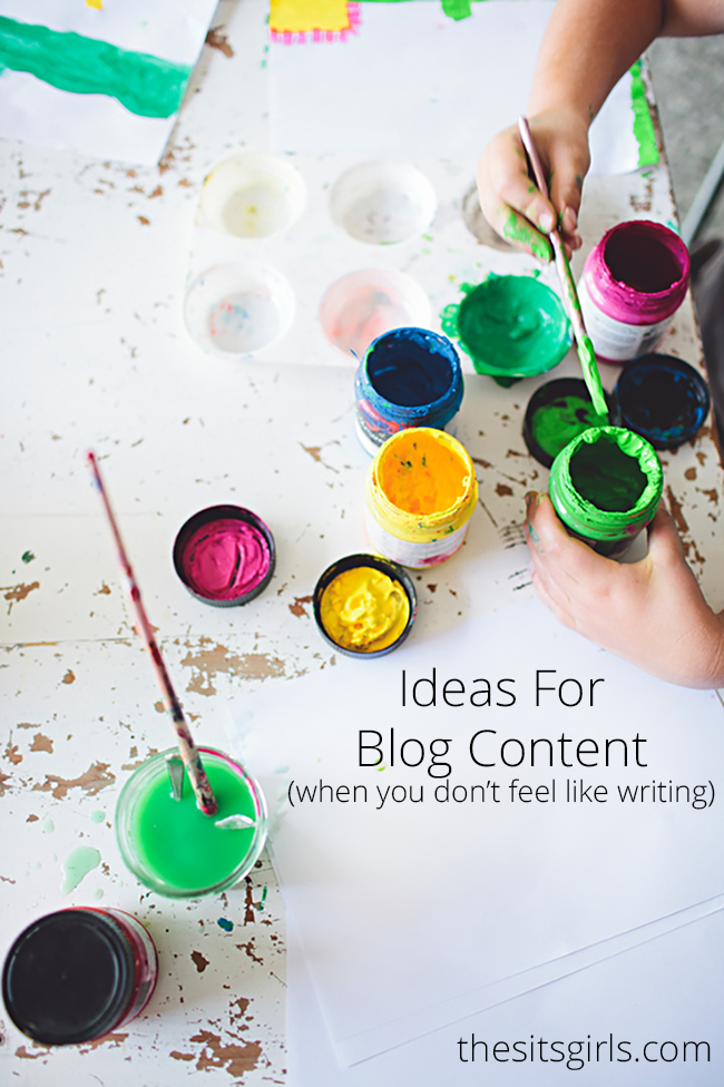 9 ideas for blog content on those days when you just don't feel like writing. | Blog Tips | Blog Post Ideas