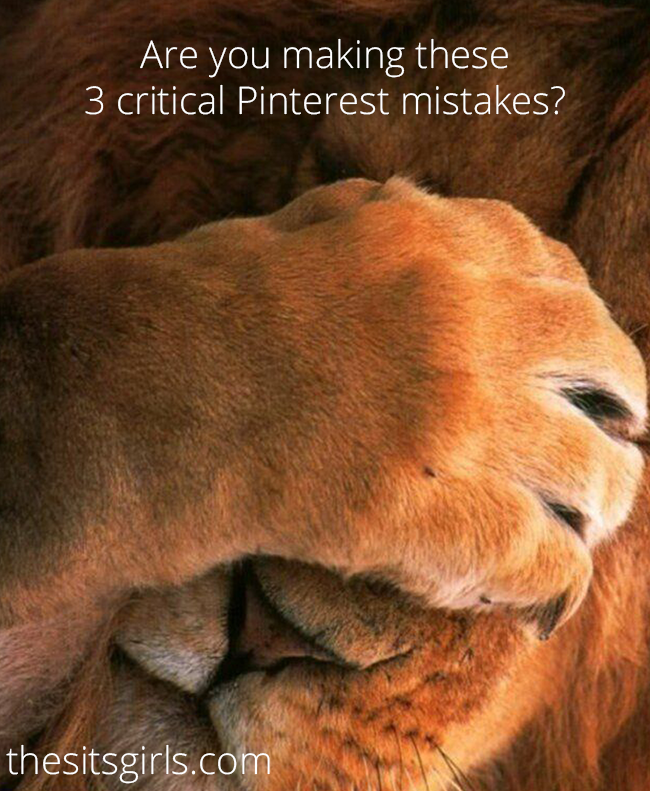 Are you making these critical mistakes on Pinterest? Click through to find out what they are and how to fix them! Pinterest Tips