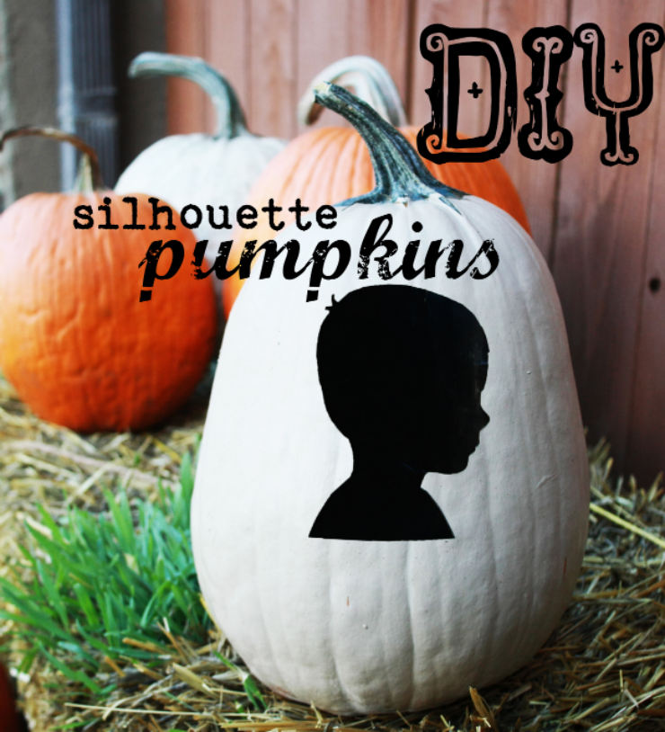 Pumpkin Painting - add a silhouette to your no carve pumpkin design