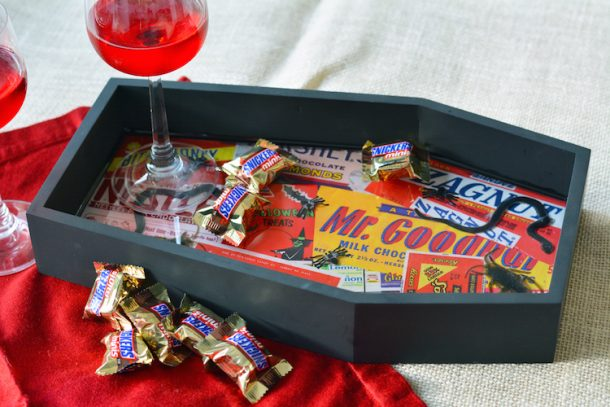 This cute tray is the coolest way to serve treats this Halloween