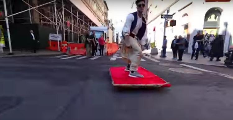 Aladdin Takes A Magic Carpet Ride Through NYC