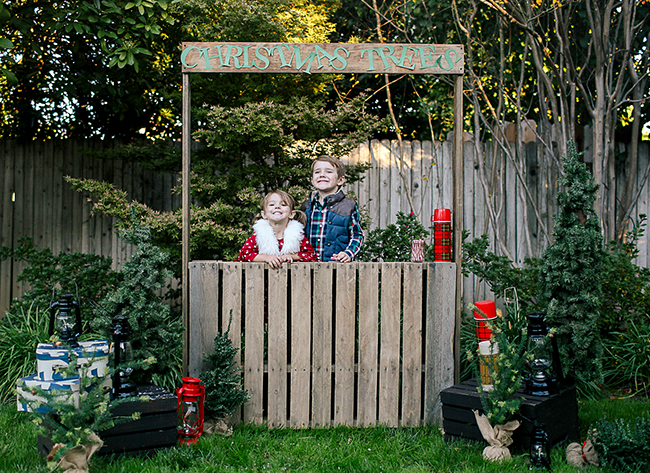 Make your Christmas photo extra cute with this DIY Christmas Tree stand as a prop. The kids will have a blast playing with it while you capture the perfect picture.