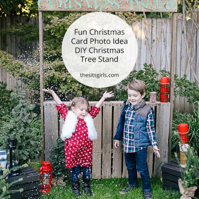 Christmas Photo Idea: DIY Christmas Tree Stand