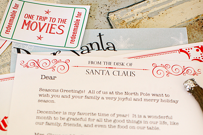 Make sure you are ready for Santa with these printables!