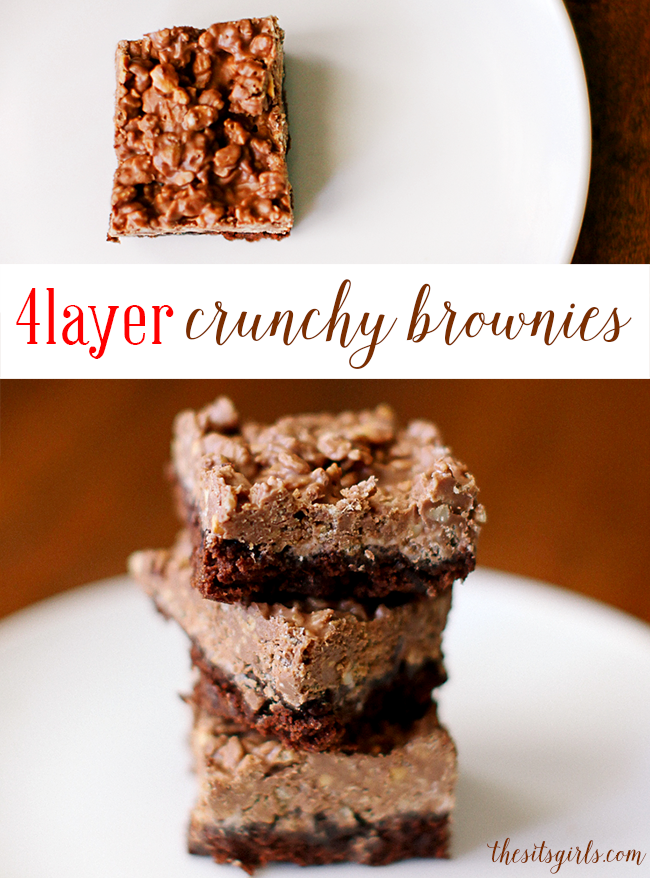 One of my favorite brownie recipes - Four Layer Brownie Bars.