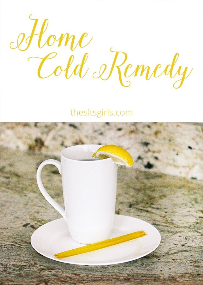 Homemade cold remedy, perfect for anyone sick in your household, made with all natural ingredients. This will make your sore throat feel better.