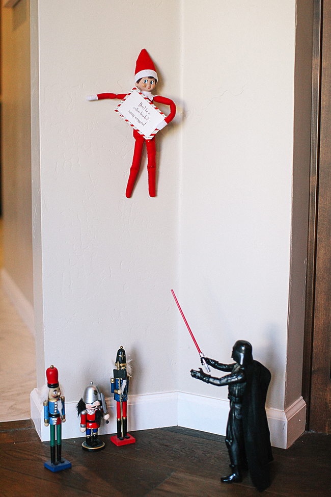 Dark Vader will be on the Naughty List for this one, right? | Elf On The Shelf Ideas