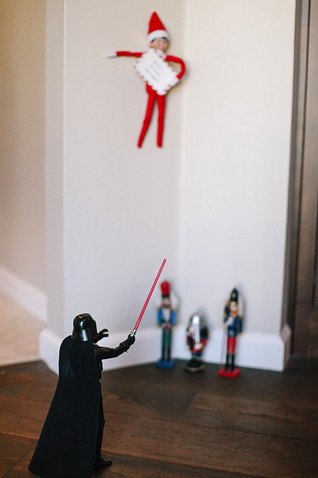 Help! The evil Darth Vader has captured our Elf!