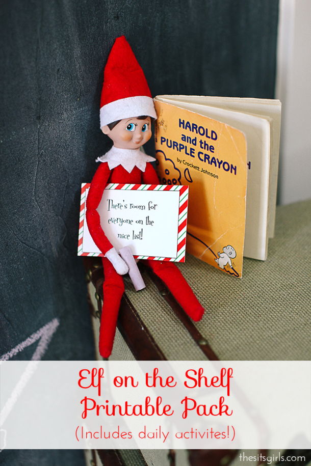 Survive Elf On The Shelf this year with our cute printables and ideas to help your elf (and kids) have fun every day.