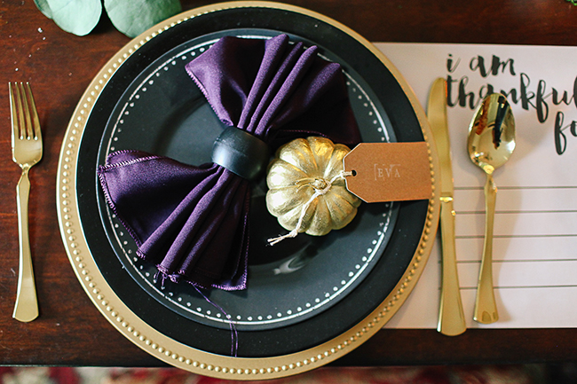Use different plates and chargers to create a dramatic effect.