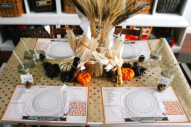 Create a fun table for kids to dine at this Thanksgiving.