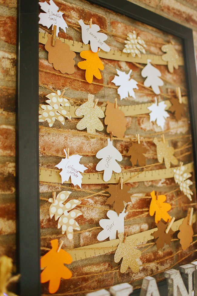 Collect some leaves and start a thankful mantle with this cute DIY!!