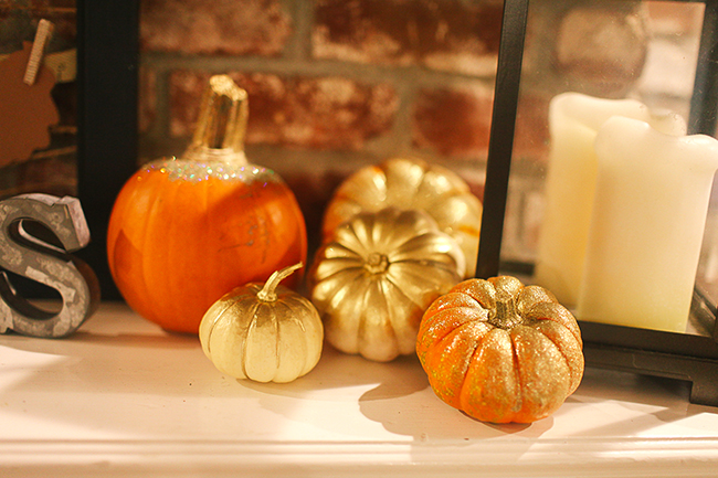 Use a variety of pumpkins to add depth to this display!