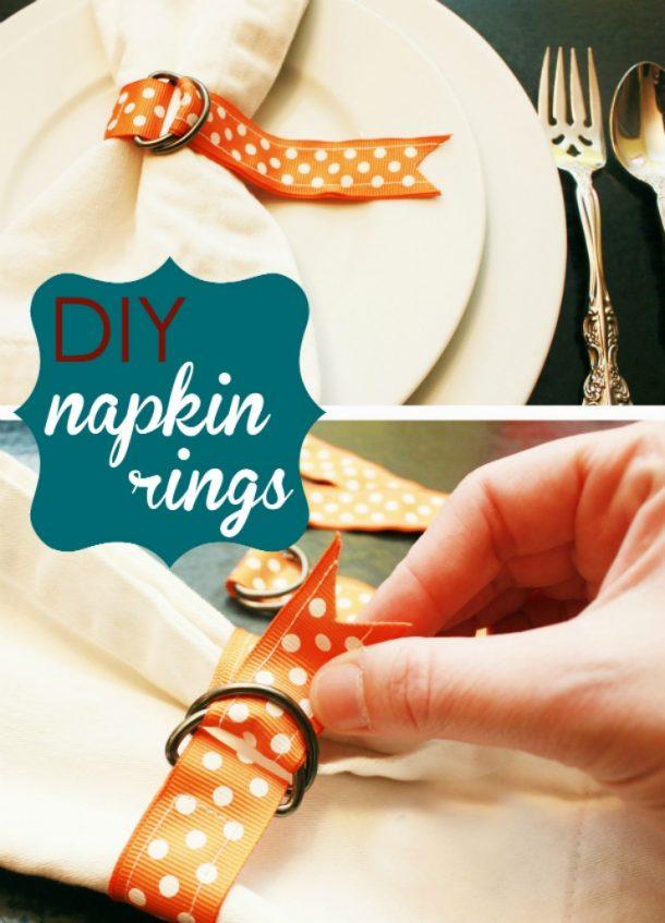 DIY Ribbon Napkin Rings