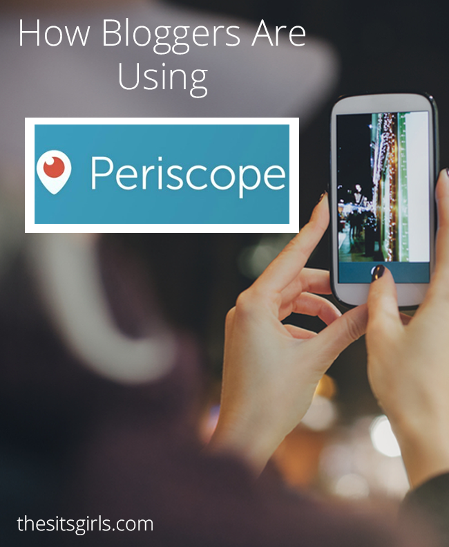 Great ideas for how bloggers can use Periscope + tips for your first broadcast! | Social Media Tips