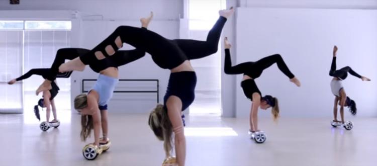 Women's Acrobatic Segway Dance to Justin Bieber