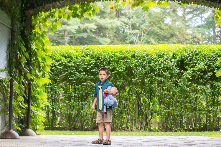 Eliminate as many distractions as possible when taking portraits of children.