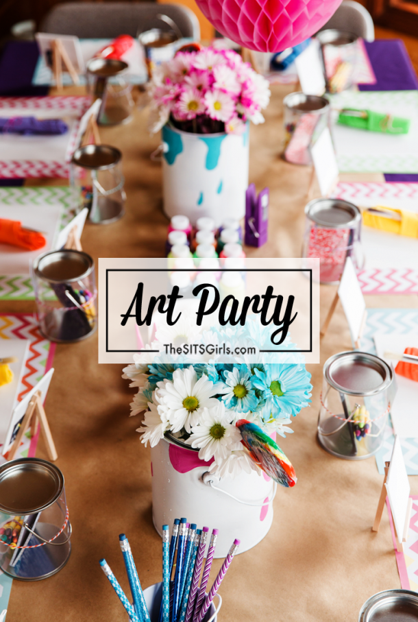 The perfect art party - cute birthday decor and snack ideas.