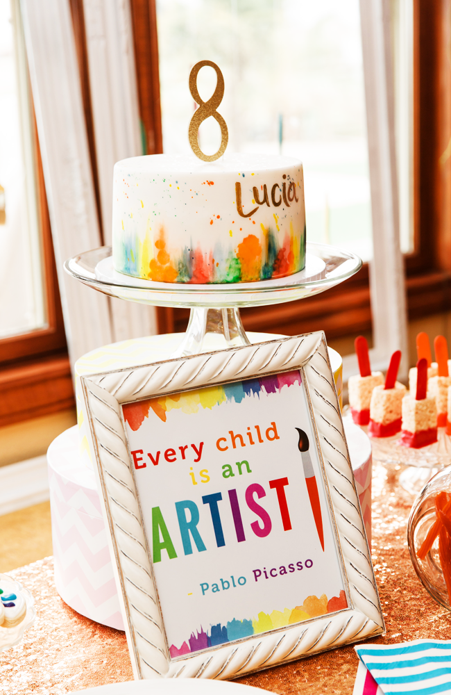 Art Party Great Birthday Party Idea