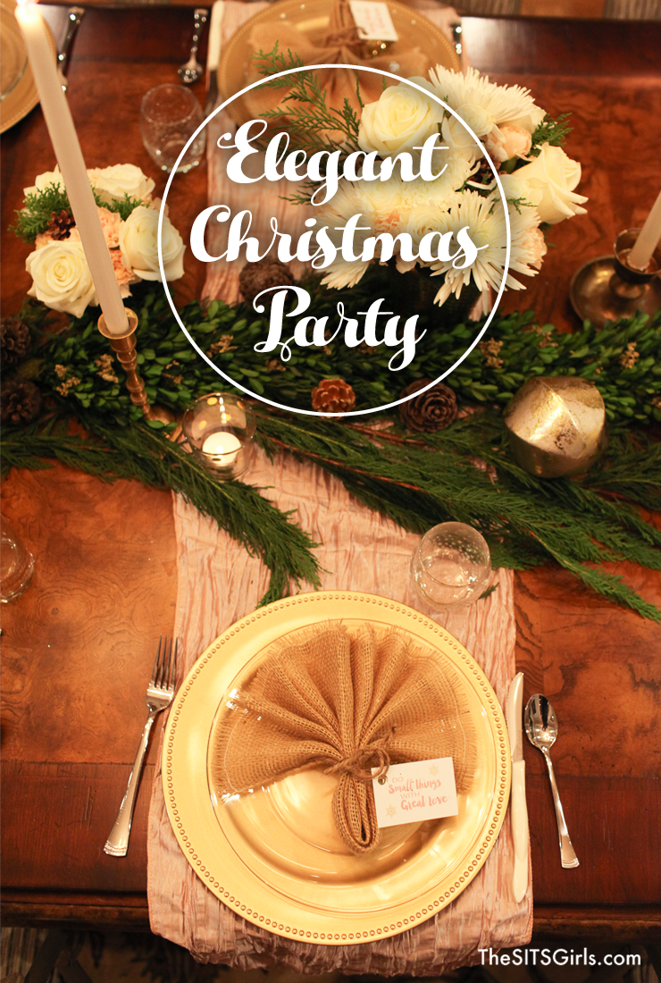 Elegant Christmas Party | Blush And Gold Tablescape