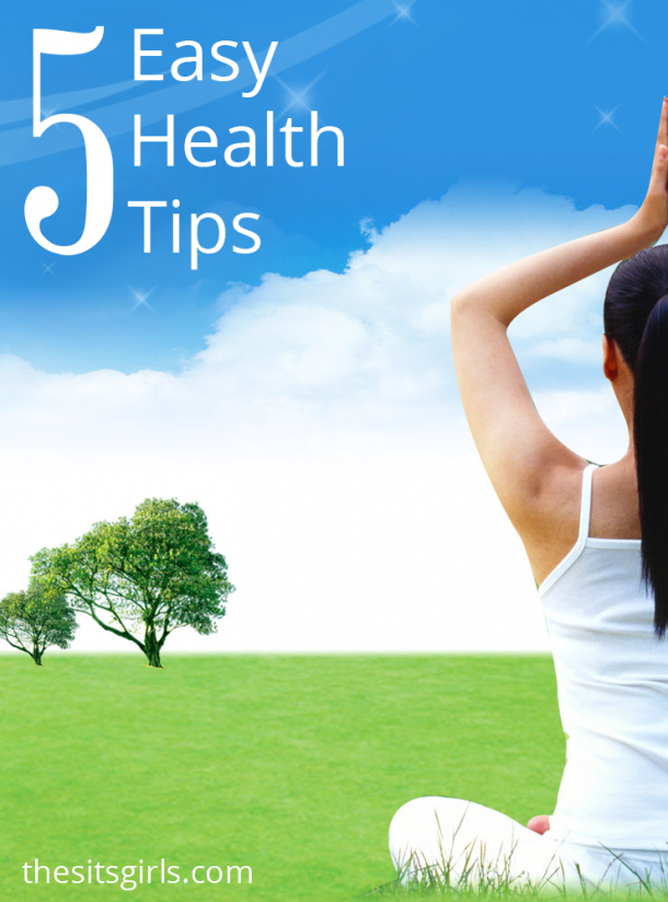 5 easy health tips bloggers can easily incorporate into their daily life.