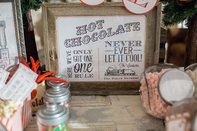 This darling printable is exactly what you need for a Polar Express Hot Chocolate bar!