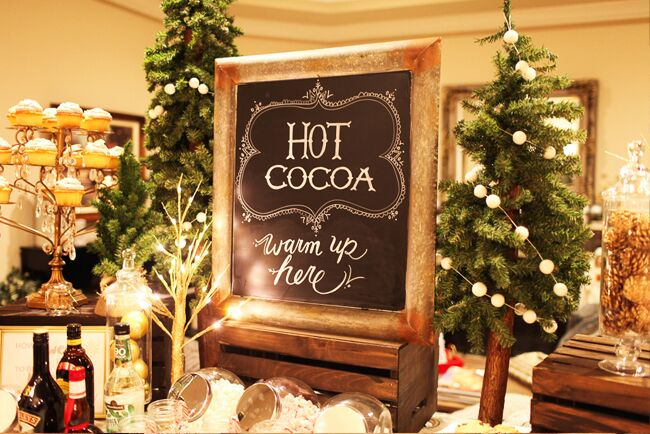 Great idea for a Christmas Party dessert bar!