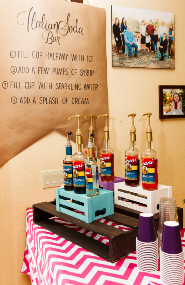 This is such a cute drink idea for a kids party!