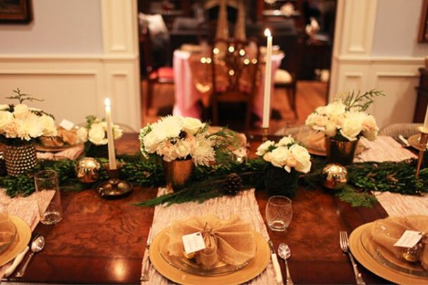 We love this nontraditional tablescape!