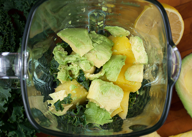 Blend all your energy boosting smoothie ingredients together.